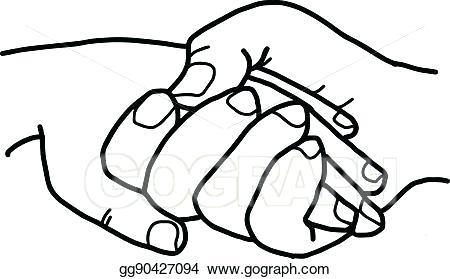 450x279 Two People Holding Hands Drawing