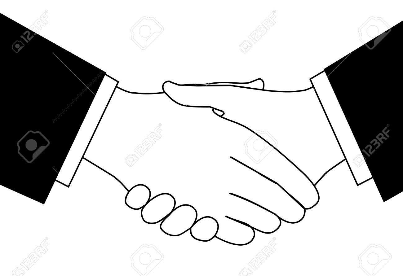 1300x891 Clipart Of People Shaking Hands Collection