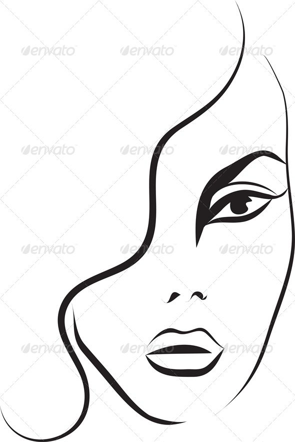 590x882 Fashion Sketch Of A Woman's Face