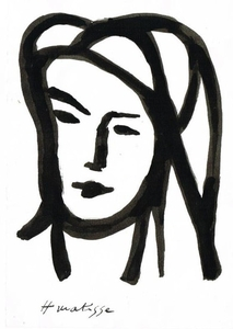 213x300 Henri Matisse A Womans Face A Drawing Of A Woman S