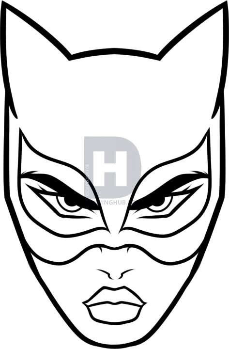 473x720 How To Draw Catwoman Easy, Step