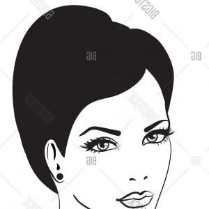 300x300 Stock Illustration Beautiful Womans Face With Long Lazttweet
