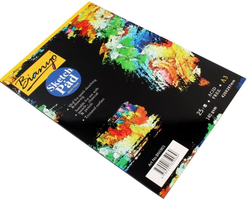 832x674 bianyo hardback gsm, black paper artist's drawing sketch