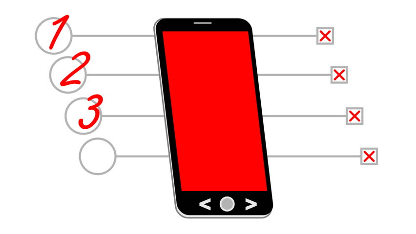 852x480 Smart Phone, Animated Drawing With Stock Footage Video