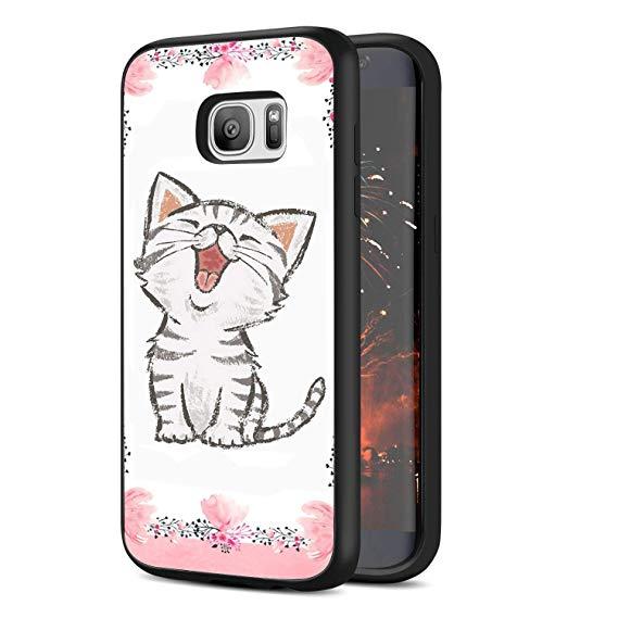 569x569 Samsung Galaxy Edge Cat Drawing Phone Case Black