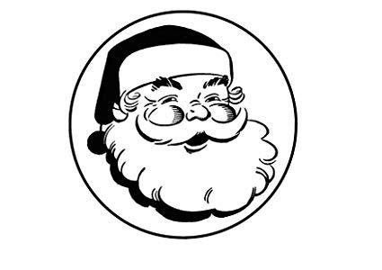 425x300 Christmas Santa, Edible Premium Thickness Sweetened