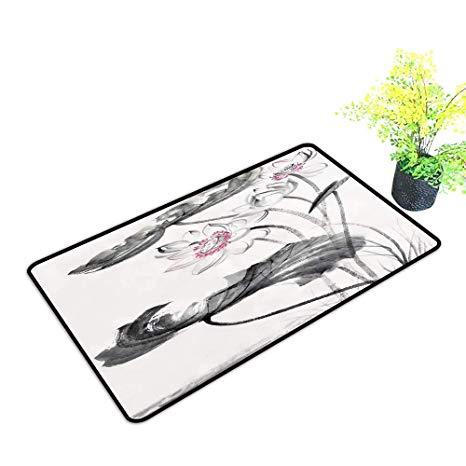 466x466 Gmnalahome Extra Thick Door Mat Lotus Flower Paint