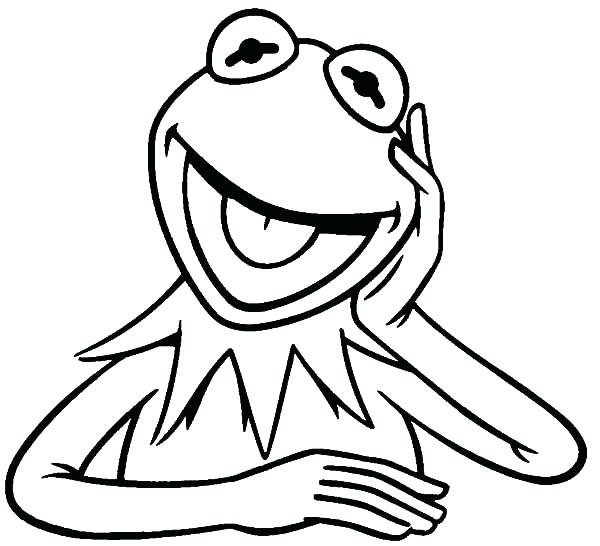 600x546 Frog Face Drawing The Frog Laughing Coloring Pages Coloring Sky