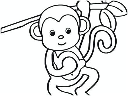 440x330 Baby Monkey Drawing Cute Baby Monkey Drawings How To Draw A Baby