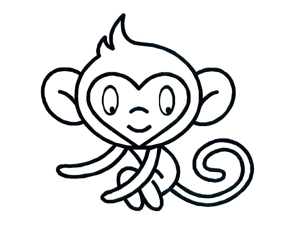 994x768 Cute Baby Monkey Drawings