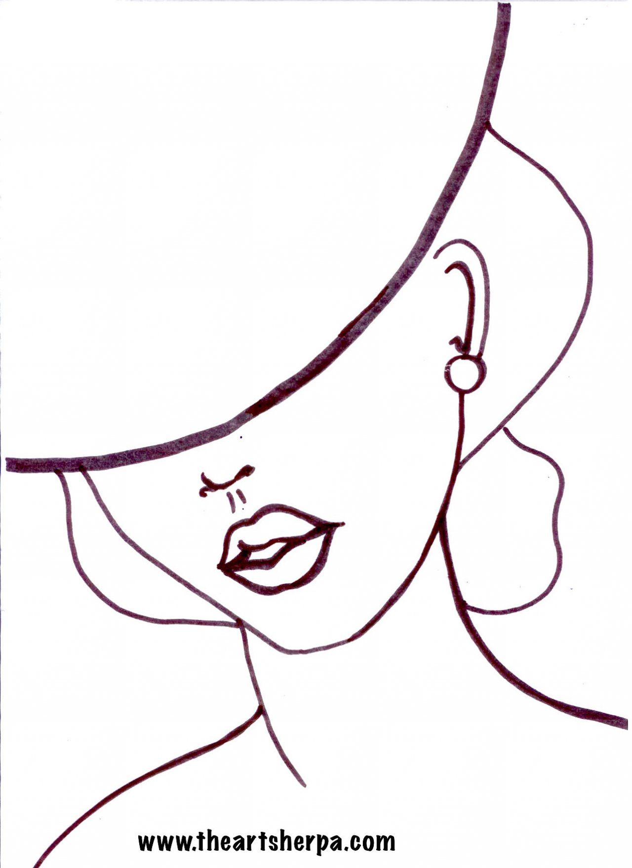 1280x1759 pop art girl with a hat fashion in pop art