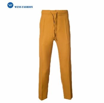 350x349 Elastic Waistband Drawing String Latest Style Men Pants Khaki