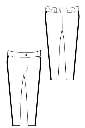 290x434 Super Skinny Pants Sewing Pattern