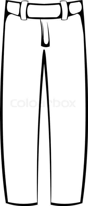344x800 Baseball Pants Icon N In Cartoon Stock Vector Colourbox