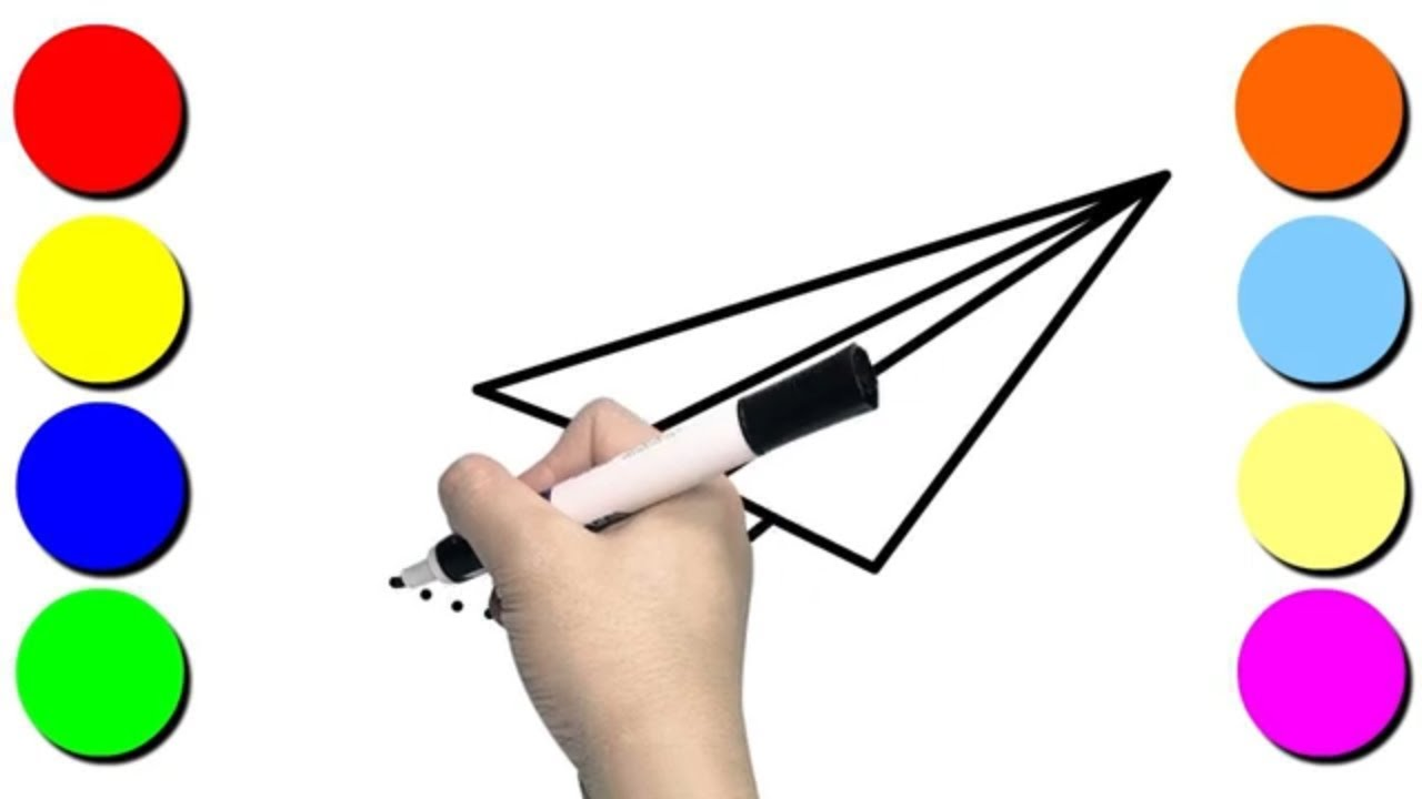 1280x720 how to draw paper plane art for kids hub drawing paper plane