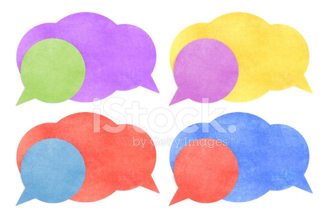 660x440 Paper Texturebubble Talk Tag On White Background Stock Photos
