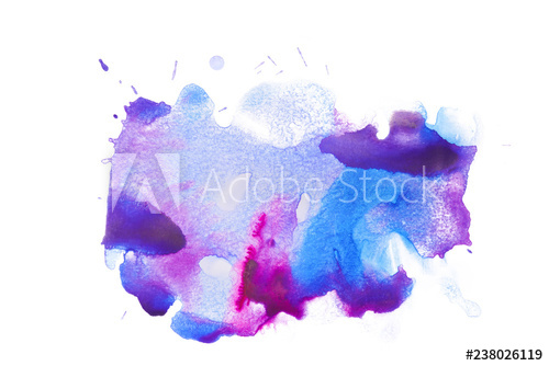 500x334 Blue Purple Watercolor Stain Multicolored Blotches Tides Of Paint
