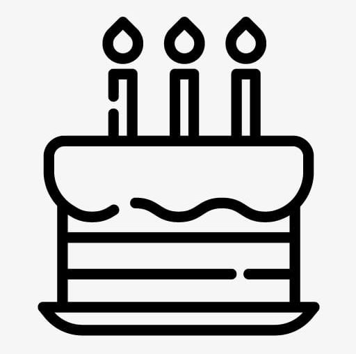 512x508 Cake Simple Drawing Png, Clipart, Birthday, Birthday Party, Black