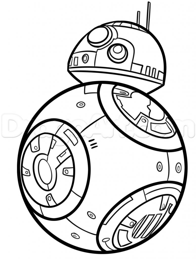 775x1024 How To Draw Bb Step Star Wars Party Drawings