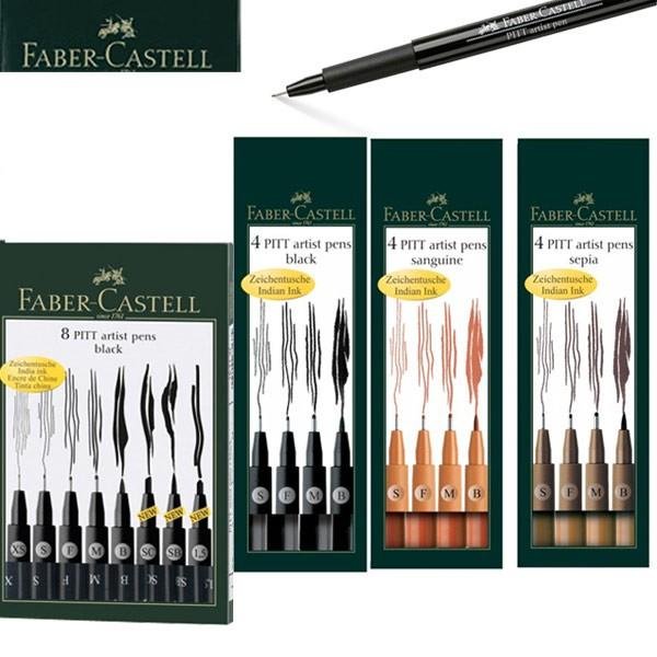 600x600 Faber Castell Pitt Artist Drawing Pen Sets