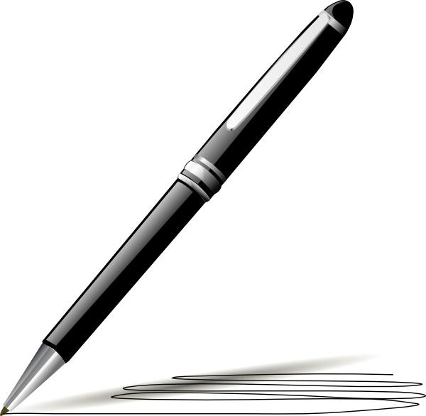 600x586 Stylish Pen Clip Art Free Vector In Open Office Drawing