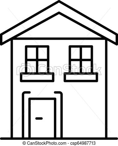 381x470 pension house icon, outline style pension house icon outline
