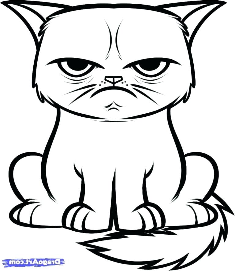 768x887 Easy Drawings Of Cats Step