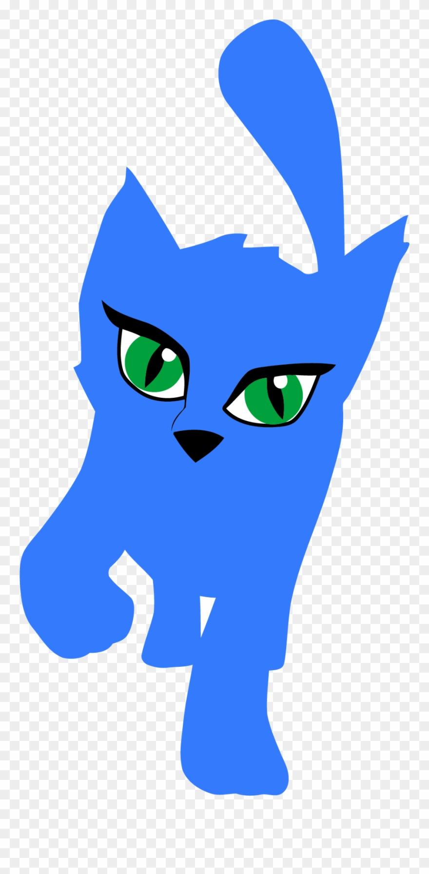880x1793 Blue Cat Clipart Png