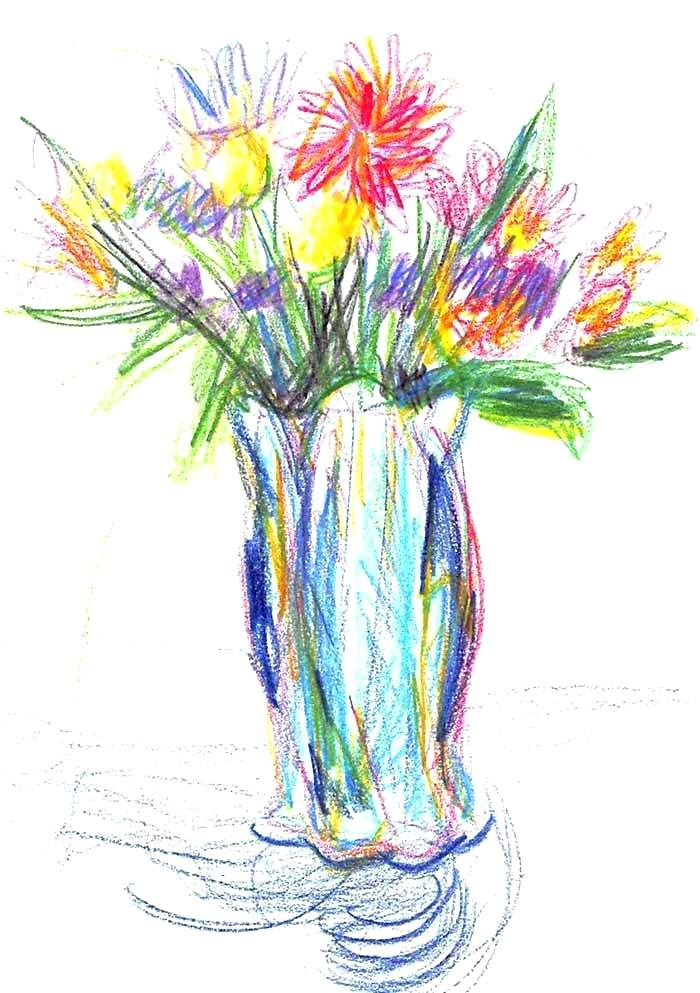 700x993 Easy Drawings Flowers Simple Flower Drawing How To Draw Flower