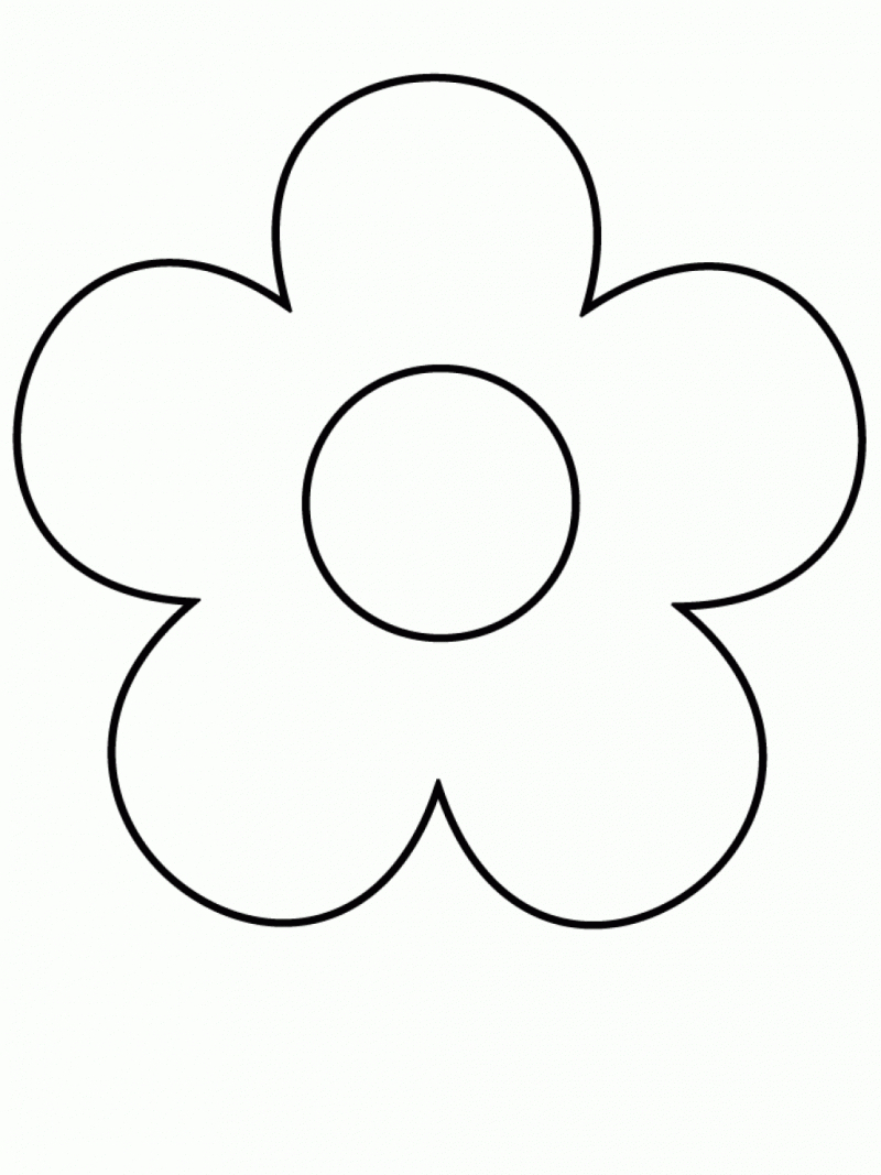800x1067 Simple Drawings For Kids Easy Flowers Drawing Of Flower