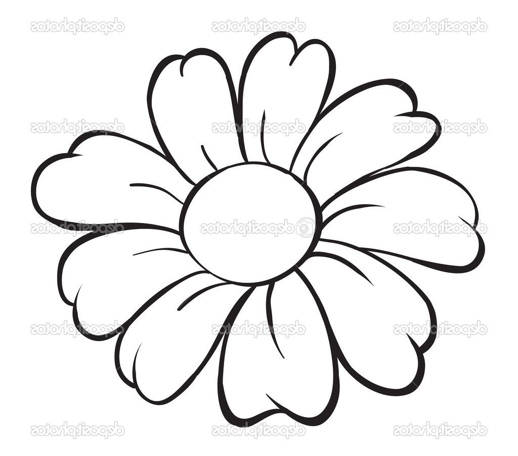 1024x902 Simple Flower Drawings To Trace Happy Patterns Easy Coloring