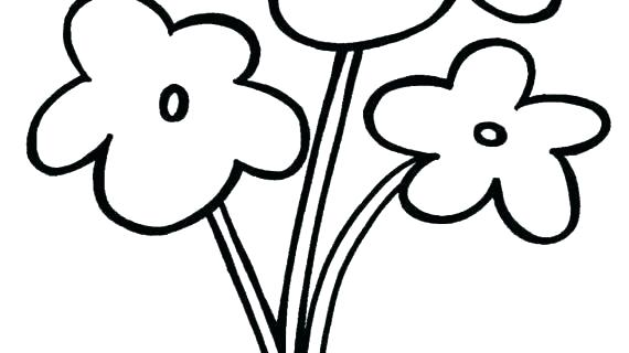 570x320 Drawings Of Easy Flowers