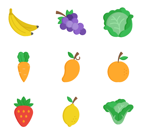 Drawing Pictures Of Fruits And Vegetables