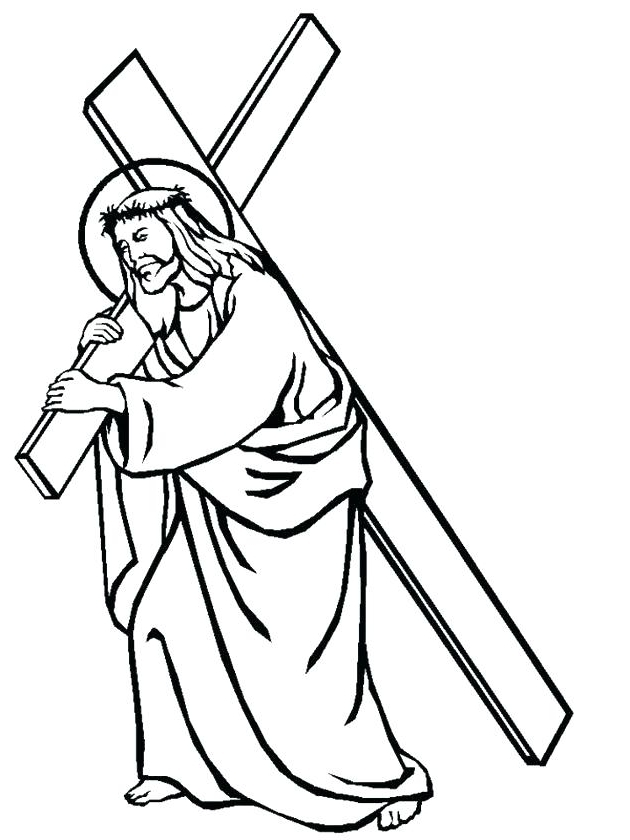 630x840 jesus coloring book mped jesus christ on the cross drawing