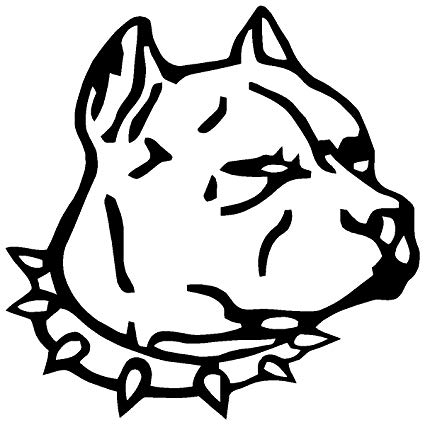 425x425 Huge Collection Of 'pitbull Head Drawing' Download More Than