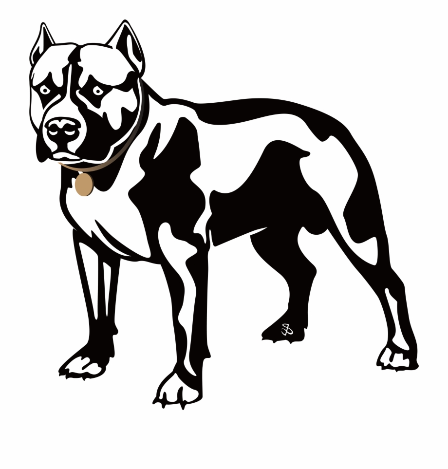 920x963 Pitbull Clipart Black White Free Png Images Clipart Download