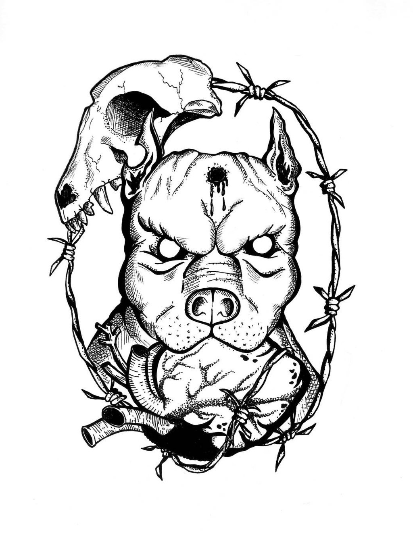1024x1332 Bully Pitbulls Tattoos Drawings Ideas And Designs