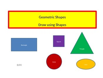 350x263 geometric shapes, draw using shapes with student worksheet tpt