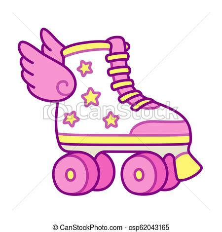 450x470 cute roller skates with wings cute pink girly roller skates