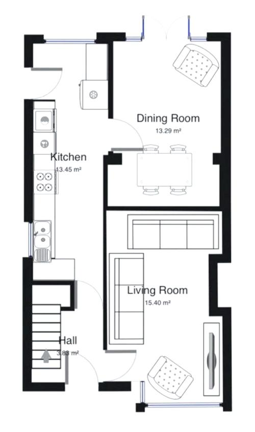 500x848 open plan kitchen layout white open plan kitchen and living area