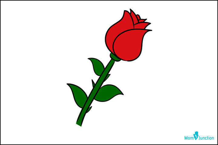 720x480 How To Draw A Rose Easy Step