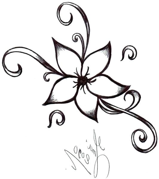 532x600 How To Draw Really Cool Flowers Picture How To Draw Rose Flowers