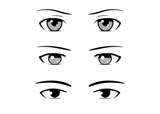 560x400 Different Style Male Anime Manga Eyes Drawing Guide