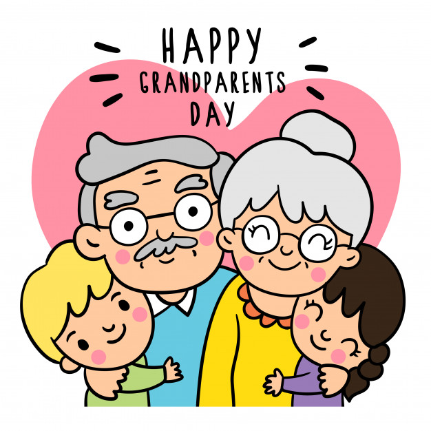 626x626 Draw Doodle Styles Of Grandparents Day Vector Premium Download