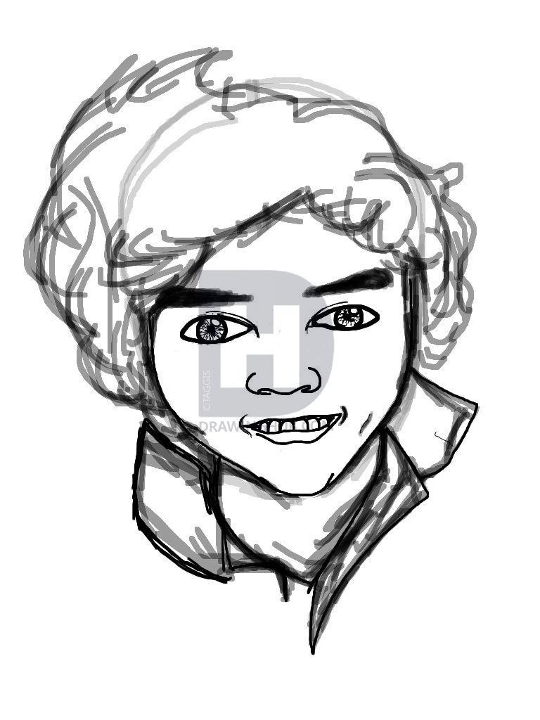 768x1024 Harry Styles Drawing