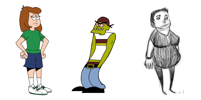 3000x1500 Helen Holman's Character Design Portfolio Drawing Proj