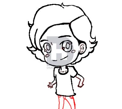 406x361 How To Draw Chibi Harry Styles Step
