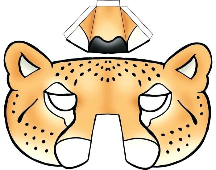 700x551 Kids Face Masks Template Animals Leopard Nose Dog Mask For Master