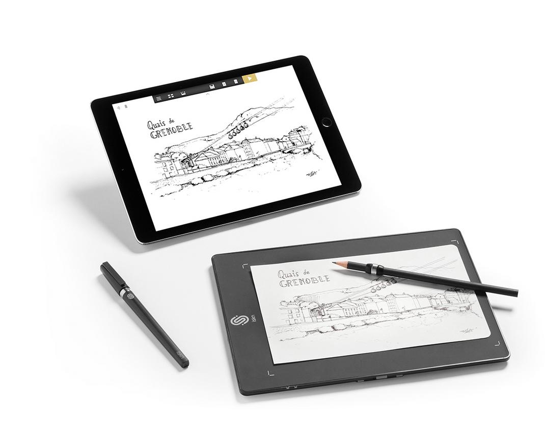 1070x836 slate smart drawing pad