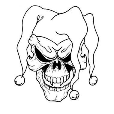 380x380 Free Printable Skull Tattoo Designs Joker Skull Tattoo